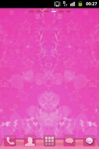 桌面粉紅甜美主題 GO Launcher Pink Swee