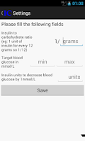 Screenshot of Insulin Calculator
