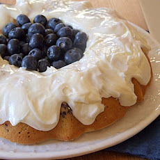 Blueberry Cake with Lemon Buttercream