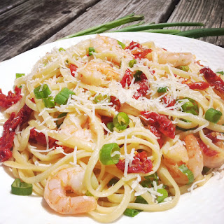 Shrimp and Sun-Dried Tomato Linguine with a Butter Garlic Sauce