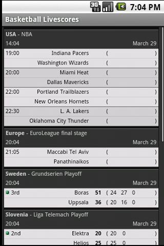 Sport Live Scores