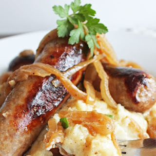 Bangers and Mash (Low Carb and Gluten Free)