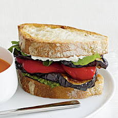Eggplant and Goat Cheese Sandwiches