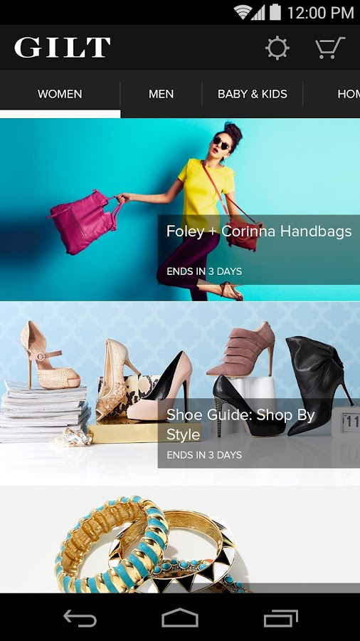 Gilt - Shop Designer Sales Screenshot 3