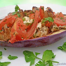 Greek-Style Stuffed Eggplant (Aubergine)
