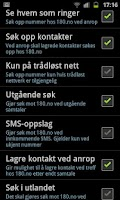 Screenshot of 180.no Mobilsøk + Gratis