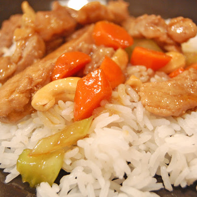 Honey Cashew Pork Stir-Fry