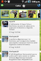 Screenshot of Liga Tweets 2014/15