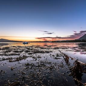 Sunset lake by Benny Høynes - Landscapes Sunsets & Sunrises ( sunset, vesterålen, sea, lake, colours, norway,  )