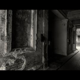 To the light by Andrei Grososiu - City,  Street & Park  Street Scenes ( blackandwhite, black and white, shadow, woman, street, light )