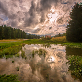 Mountain pond in summer by Stanislav Horacek - Landscapes Weather
