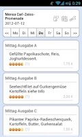 Screenshot of Mensa Jena