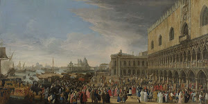 RIJKS: Luca Carlevarijs: The Entry of the French Ambassador in Venice in 1706 1708