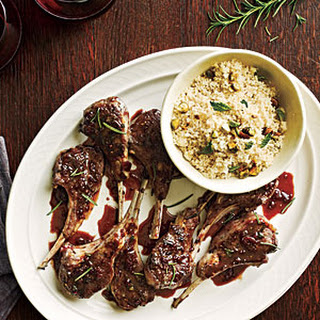 Currant-Glazed Lamb Chops with Pistachio Couscous
