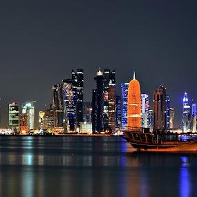 by Sanjiban Ghosh - City,  Street & Park  Skylines ( city, night,  )