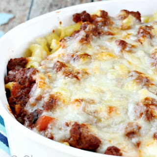 Three Cheese Layered Beef Pasta Bake
