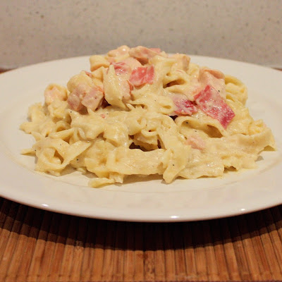 Smoked Chicken and Prosciutto Fettuccine Alfredo