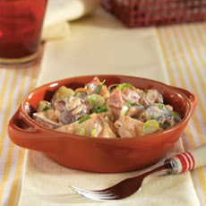 ... radishes creamy potato salad with red potato salad with scallions