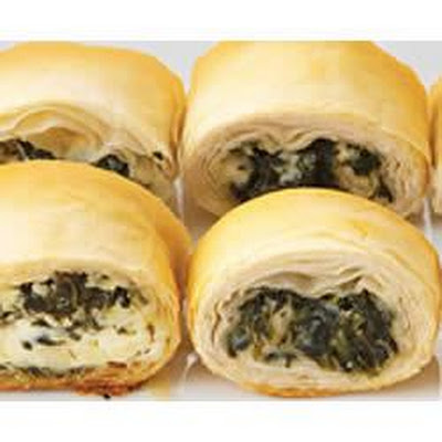 PHILLY Make-Ahead Spinach Phyllo Roll-Ups