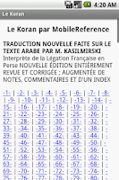 Screenshot of Le Koran