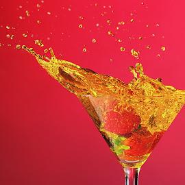 sour strawberry splash by Earl Wyant - Food & Drink Alcohol & Drinks