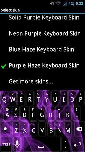 Purple Haze Keyboard Skin
