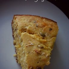 Cheddar Cornbread with Pepitas
