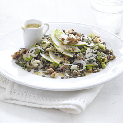Lentil, Walnut & Apple Salad With Blue Cheese