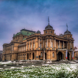 Croatian National Theater by Branko Meic-Sidic - Buildings & Architecture Public & Historical ( hdr, croatia, zagreb, national theater )