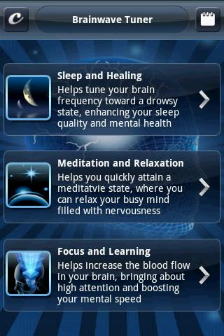 brainwave-tuner-lite for android screenshot