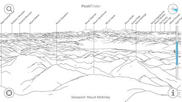 Screenshot of PeakFinder Earth