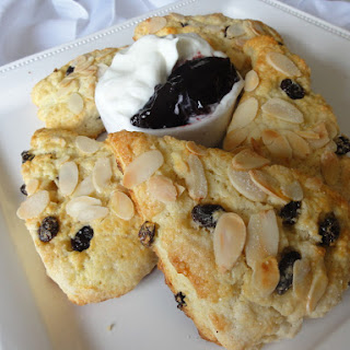 Raisin and Almond Scones