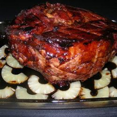Roast Ham with Pineapple