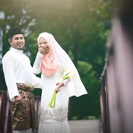 Happiness by Muhammad Nal Rashid - Wedding Bride & Groom ( wedding . groom . bride . portraits . ceremony )