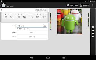 Screenshot of Weight Tracker weight loss app
