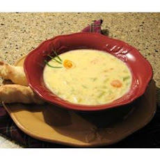 Cheesy Beer and Vegetable Soup