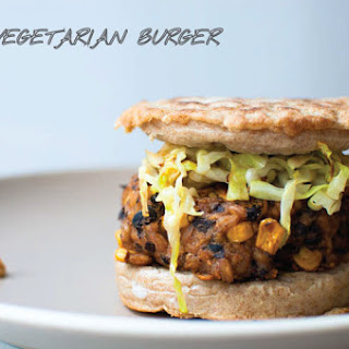 Recipe for Black Bean + Corn + Farro Vegetarian Burger
