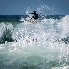 Rough seas. by Clive Chick - Sports & Fitness Surfing