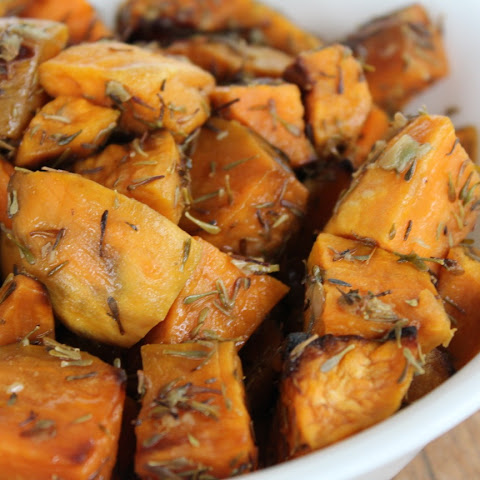 Thyme Roasted Sweet Potatoes