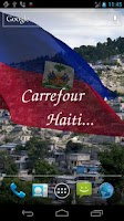 Screenshot of 3D Haiti Flag Live Wallpaper