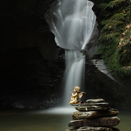 Remembrance by Tony Simcock Eadie - Landscapes Waterscapes ( water, rock stack, waterfall, long exposure, remembrance,  )