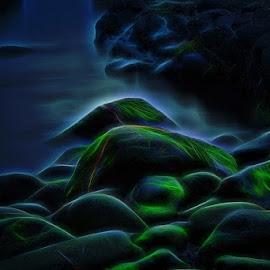 Rock by Janne Monsen - Nature Up Close Rock & Stone ( golta, hordaland, sund, sotra, norway )