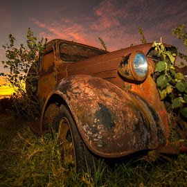 Reclaimed by Drew Sulock - Transportation Automobiles ( trucks, maui, sunset, nature wins, hawaii )