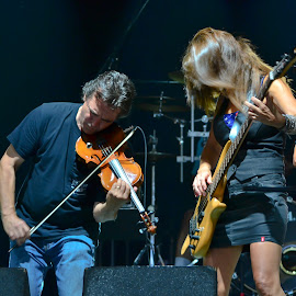Lori and TR by Jan Herren - People Musicians & Entertainers ( music, red river band, musicians, bass player, fiddle player,  )