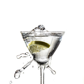 Lemon Splash by Damir Roz - Food & Drink Alcohol & Drinks ( water, moment, glass, white background, lemon )