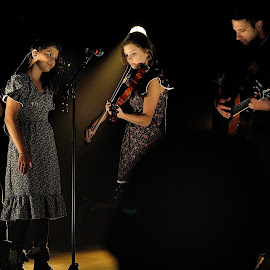 Church Sisters. by Dennis McClintock - People Musicians & Entertainers ( people playing the violin challenge, violin, performer, musician, entertainer,  )