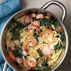 Buttery Shrimp and Radish Pasta