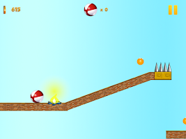 Screenshot of Crazy Red Bouncy Ball Spikes
