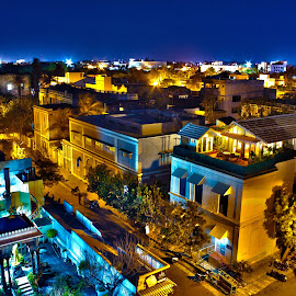PONDICHERRY BY NIGHT by Sivakumar Inc - City,  Street & Park  Street Scenes
