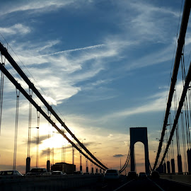 Varrazano bridge by Kermen Ivikova - City,  Street & Park  City Parks ( verrazano, color, on the way, bridge, new york,  )